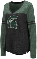 NCAA Unbranded Women's Foothills 3/4 Sleeve Tee - Michigan State Spartans