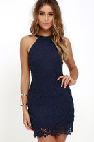 LuLu*s Love Poem Navy Blue Lace Dress
