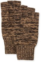 Portolano Marled Fingerless Gloves, Dark Brown/Hazelnut