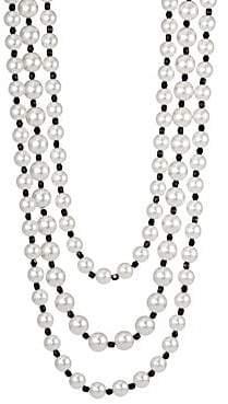Kenneth Jay Lane Women's Multirow Jet Bead Necklace