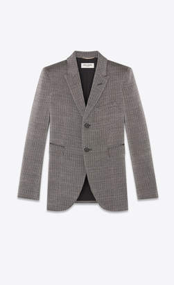 Saint Laurent Blazer Jacket Blazer In A Rustic Lame Knit Black 6