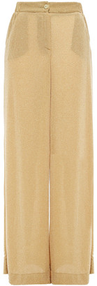 Just Cavalli Crystal-embellished Stretch-jersey Wide-leg Pants