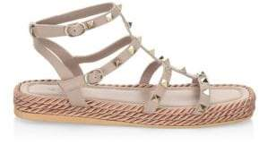 Valentino Torchon Leather Sandals