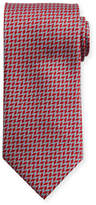Brioni Herringbone-Print Silk Tie