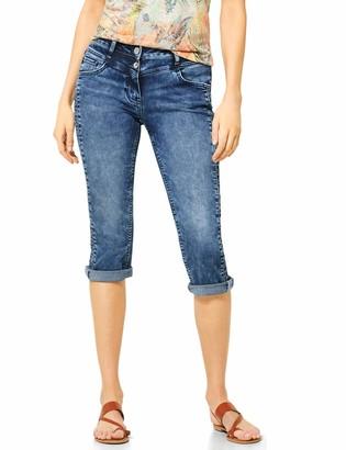 Cecil Women's 373123 TOS Charlize Zig Zag Jeans