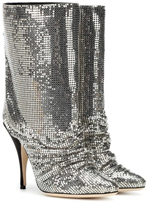 Marco De Vincenzo Chainmail and leather ankle boots