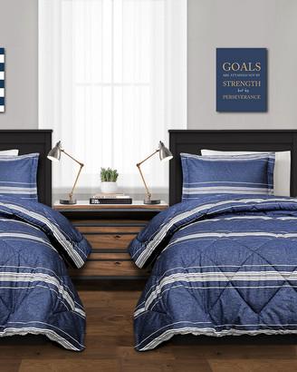 Triangle Home Fashion Fashions 2Pc Marlton Twin Xl Comforter Set