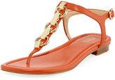MICHAEL Michael Kors Mahari Leather Flat Thong Sandal