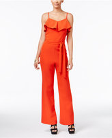 Thalia Sodi Ruffled Belted Jumpsuit, Only at Macy's