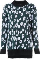 Proenza Schouler knitted leopard sweater - women - Spandex/Elastane/Virgin Wool/Polyimide - 2