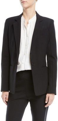 Derek Lam 10 Crosby Bowery Single-Button Stretch Twill Blazer