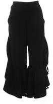 Jonathan Simkhai Front Slit Ruffle Cropped Pants