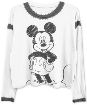 Freeze 24-7 Trendy Plus Size Mickey-Print Ringer T-Shirt