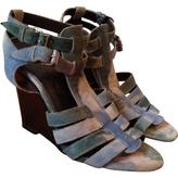 Balenciaga Blue Suede Sandals