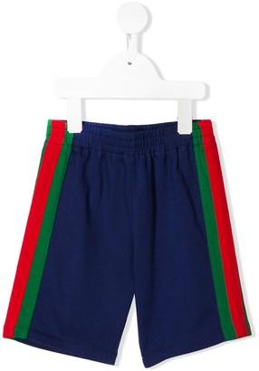 Gucci Kids Side Stripe Shorts