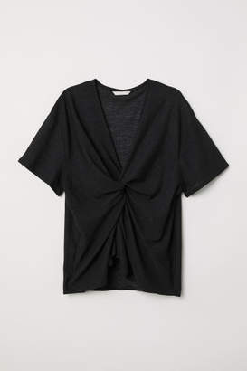 H&M Knot-detail top