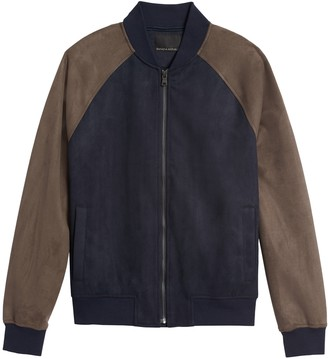 Banana Republic Vegan Suede Bomber Jacket