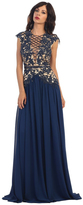 May Queen - Astonishing Laced Deep V-Neck A-Line Gown RQ7340