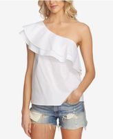 1 STATE 1.STATE Tiered One-Shoulder Flounce Top