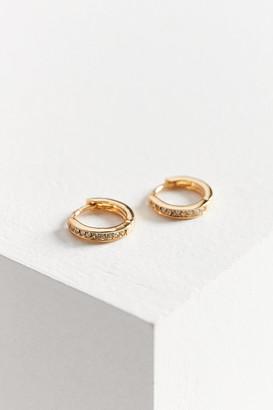 Urban Outfitters 18k Gold Plated Rhinestone Hoop Earring