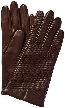 Portolano Embroidered Wool & Cashmere-Lined Leather Gloves