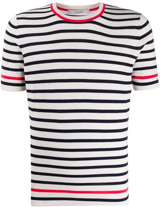 La Fileria For D'aniello Short-Sleeve Striped Jumper