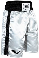 Everlast Standard Bottom of Knee Boxing Trunks - Large - White/Black