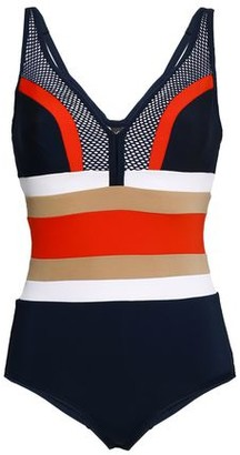 Jets Ultraluxe Mesh-paneled Color-block Underwired Swimsuit