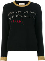 Gucci Coco Capitán embroidered knit top
