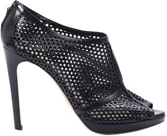 Prada Black Leather Ankle boots