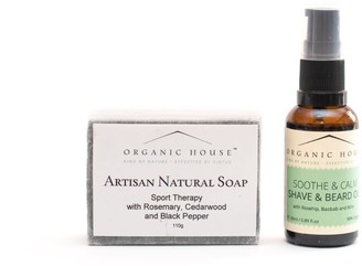 Organic House Shave & Beard Oil Natural Soap Gift Set- Soothe & Calm