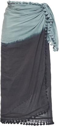 Matta Dupatta Ombre Cotton-Silk Tasseled Shawl