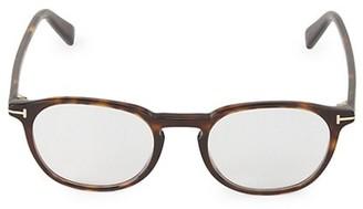 Tom Ford 50MM Round Blue Block Optical Glasses