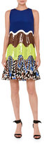 Emilio Pucci Sequined Wave Sleeveless Dress, Multi