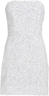 retrofete Heather Strapless Sequin Dress