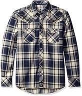 Wrangler Men's Rock 47 Two Pocket Snap Front Long Sleeve Shirt