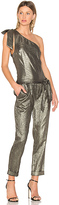 Paige x Rosie HW Maisie Jumpsuit in Metallic Gold