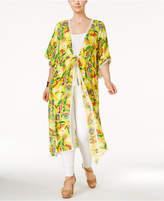 Melissa McCarthy Trendy Plus Size Duster Kimono Cardigan