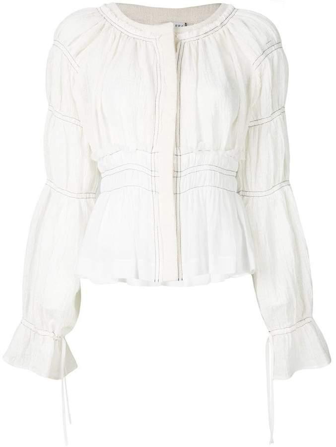 Altuzarra tiered sleeve cropped jacket