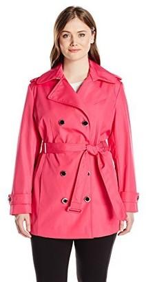 Calvin Klein Women's Plus-Size Db Trench Coat