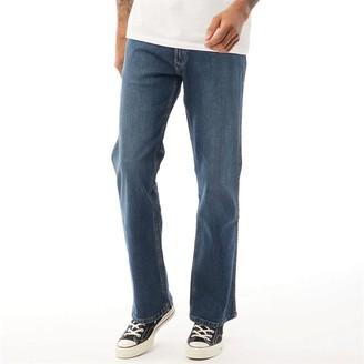 Wrangler Mens Jacksonville Bootcut Jeans Green Haze