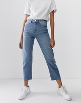 Asos Design DESIGN Recycled Florence authentic straight leg jeans in french blue wash
