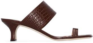 Paris Texas Crocodile-Effect 45mm Sandals