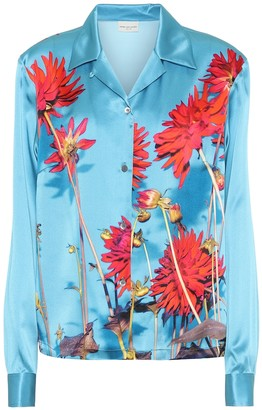 Dries Van Noten Floral silk-satin shirt