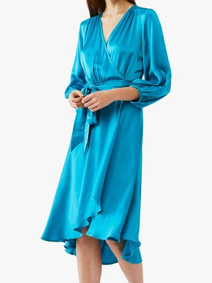 Ghost Aggie Satin Wrap Dress