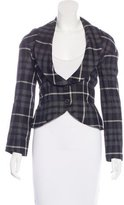 Vivienne Westwood Fitted Plaid Blazer