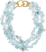 Kenneth Jay Lane Gold-plated beaded necklace