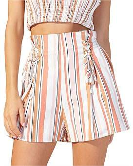 MinkPink Bennelong Lace Up Shorts