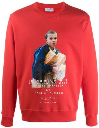 Ih Nom Uh Nit Stranger Things print sweatshirt