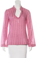 Tory Burch Embellished Woven Top
